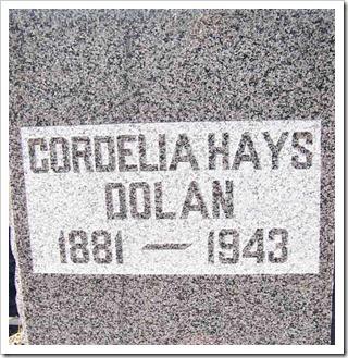 Bodie Resident: Cordelia Hays Dolan headstone - photo by Karen Bink - Bodie.com