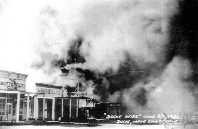"""Bodie afire"" - June 23, 1932 - Bodie, Mono County, Calif. | Bodie.com"