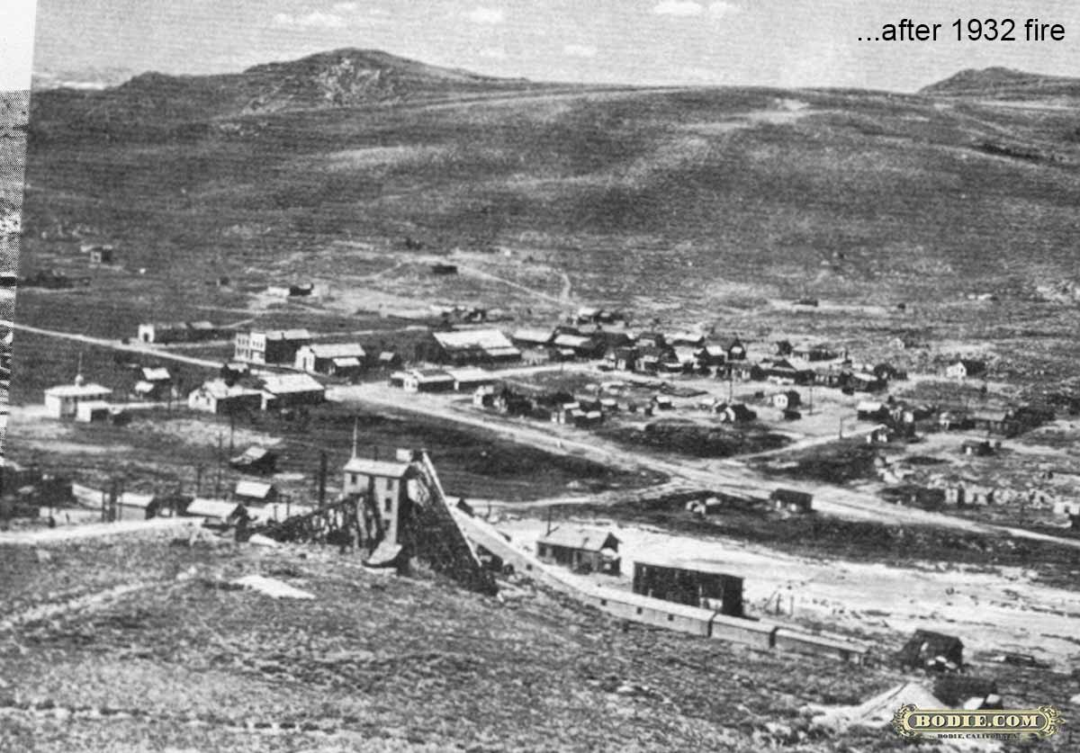 After 1932 fire...   Bodie.com